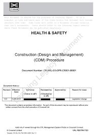 construction design management cdm crossrail learning legacy