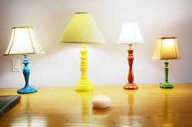 mr kate diy colorful thrift store lamps