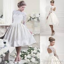 short lace wedding dress with sleeves vintage inspired wedding