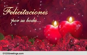 wedding wishes en espanol wedding congratulations free around the world ecards