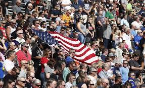nascar fan online store trump nascar fans stand for the national anthem national politics