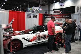 c7 corvette turbo sema 2014 sts turbo gives c7s throttle with turbo