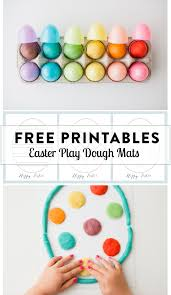printable playdough recipes play dough mats for your easter baskets free printables modern