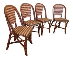 Miami Bistro Chair Vintage U0026 Used Rattan Dining Chairs Chairish