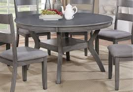 Round Dining Sets Gray Transitional 7 Piece Round Dining Set Warwick Rc Willey