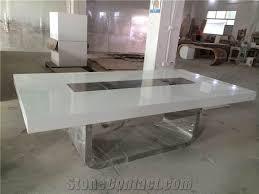 Office Furniture Meeting Table Modern Manmade Stone Office Furniture Marble Top Meeting Table