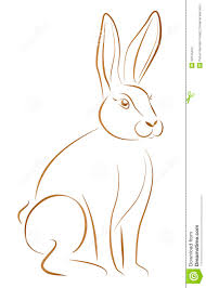 rabbit sitting stock vector image 39135294