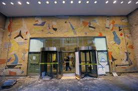 large forgotten mosaic mural from the 1950s uncovered in a midtown a mural by max spivak at the base of the 5 bryant park office tower in