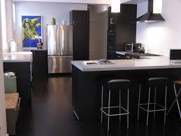 dark cork flooring kitchen