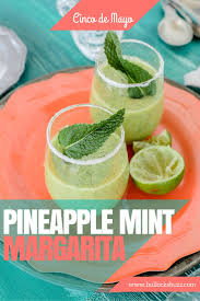margarita recipes pineapple mint margarita cinco de mayo
