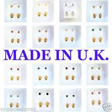 ear piercing studs brand new ear piercing studs earrings stud certified sterile gold