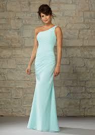 one shoulder wedding dresses length luxe chiffon one shoulder morilee bridesmaid dress
