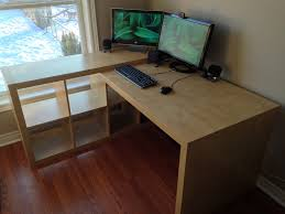 Ikea Office Desks Ikea Expedit Desk Hack Hashtagrandom Pinterest Ikea Expedit