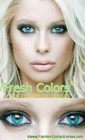 light blue eye contacts blue contact lenses by fresh colors