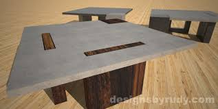 concrete and wood coffee table concrete coffee table with square wood or concrete legs