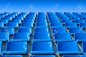 empty blue stadium seats stock photo picture and royalty free