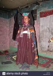 ladakh clothing child wearing the traditional dress of zanskar in kumi ladakh