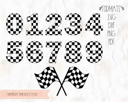 Checkered Flag Eps Checkered Numbers Checkered Flag Racing Flag Svg Png Dxf