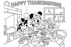 mickey mouse thanksgiving coloring pages u2013 happy thanksgiving