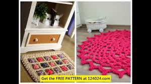 Round Flower Rug by Crochet Fabric Rug Easy Crochet Rug Patterns How To Crochet A