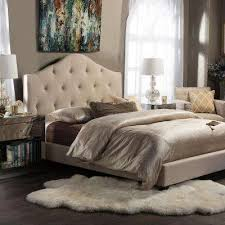 White Headboard King King Beds Headboards Bedroom Furniture The Home Depot