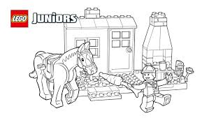 lego juniors pony stables coloring page coloring pages lego