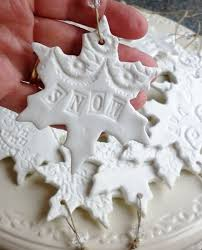 plaster of crafts make snowflake shaped clay