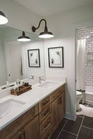 best images about lovely little bathrooms pinterest subway tile kids bathroom white walls gray floors benjamin moore swiss coffee
