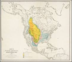 Map Buffalo Map Bison Distribution In North America
