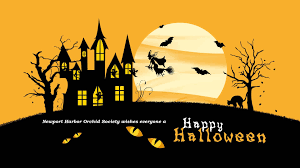 happy halloween clipart banner happy halloween newport harbor orchid society