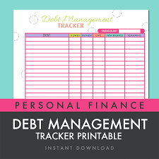 Debt Spreadsheet Debt Management Tracker Worksheet Printable Pdf Instant