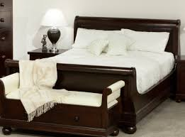 White Queen Sleigh Bed Antoinette Mahogany Sleigh Queen Bed