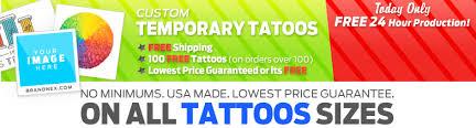 custom temporary tattoos made in usa