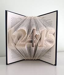 paper anniversary gifts for him wedding anniversary present folded book with