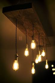 Light Bulb Chandeliers Diy Reclaimed Lumber Hanging Edison Bulb Chandelier Unmaintained