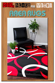 34 best red black and white area rugs images on pinterest red