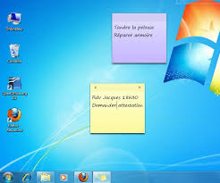 bureau windows afficher des post it sur un ordinateur windows 7 lecoindunet