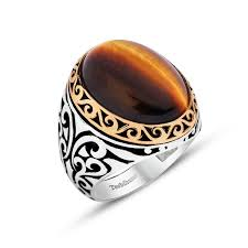 mens ring special design tiger s eye 925 sterling silver men s ring zenn