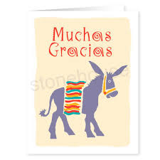 stonehouse collection muchas gracias western thank you note card