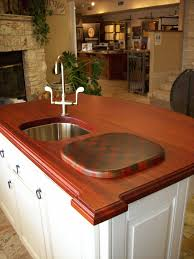 furniture red oak wooden polish butcher block countertops with
