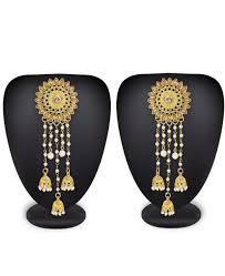 golden earrings buy beauteous golden earrings aprm9993 at rm67