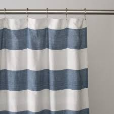 Navy Blue And White Striped Curtains Fashionable Striped Shower Curtain U2014 The Homy Design