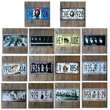 Metal Signs Home Decor Che Guevara Che 726 Car Number Plates Retro Metal Poster Tin Sign