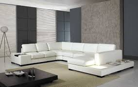 Modern Leather Sofa Amazon Com T35 White Bonded Leather Sectional Sofa Set With