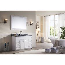 Granite Bathroom Vanity by Ace 49 Inch Transitional Single Sink Bathroom Vanity Set In White