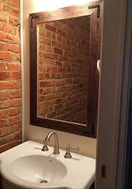 Wood Framed Mirrors For Bathroom by 24x36 Reclaimed Wood Framed Mirror Wall U0027s Furniture U0026 Decor