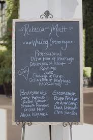 Wedding Program Chalkboard 28 Best Images About Wedding On Pinterest Pick A Seat Ceremony