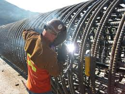 Rebar Worker Welding Rebar Cage At Gold Creek Crew Member Welds A Rebar U2026 Flickr