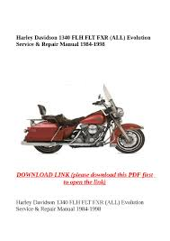 harley davidson 1340 flh flt fxr all evolution service u0026 repair
