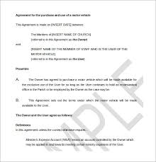 16 purchase agreement templates u2013 free sample example format